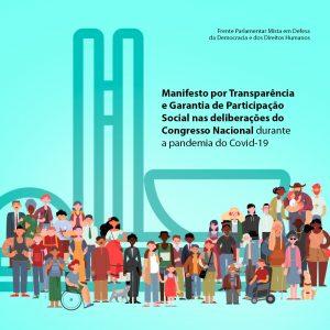 Organizações da sociedade civil pedem transparência e garantia de participação nos trabalhos do Congresso durante pandemia de coronavírus