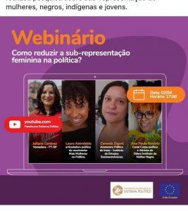 Webinário discute sub-representação feminina na política
