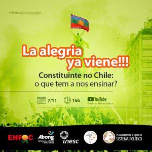 Webinário debate plebiscito histórico do Chile