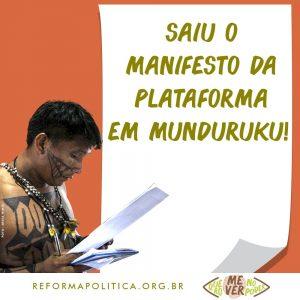Eleições 2020: confira versão em Munduruku do manifesto para fortalecer sistema político brasileiro