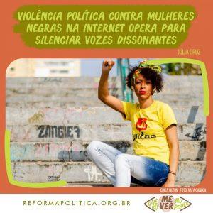 Violência política contra mulheres negras na internet opera para silenciar vozes dissonantes