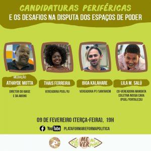 CANDIDATURAS PERIFÉRICAS E OS DESAFIOS NA DISPUTA POR ESPAÇOS DE PODER É TEMA DE LIVE NESTA TERÇA (19)
